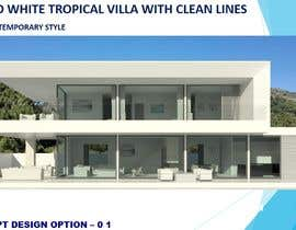 #5 for high end White tropical villa with clean lines af Arkhitekton007