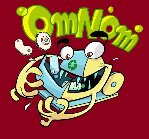 #39 for Looking for an illustrative or cartoonish style logo For the name OmNom. by artinearth