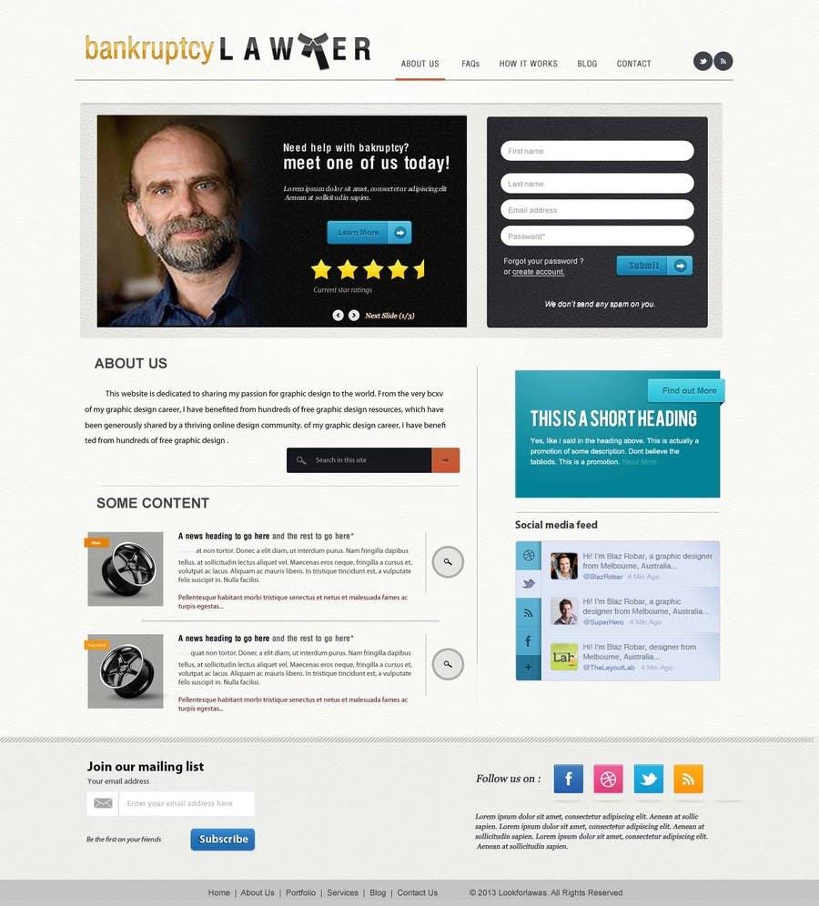 Kilpailutyö #160 kilpailussa Website Design for LookforLawyer.com