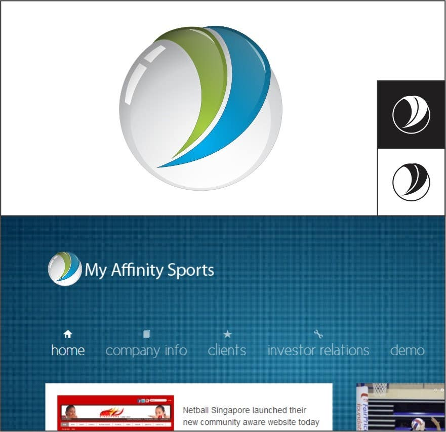 Proposition n°                                        86                                      du concours                                         Logo Design for My Affinity Sports
