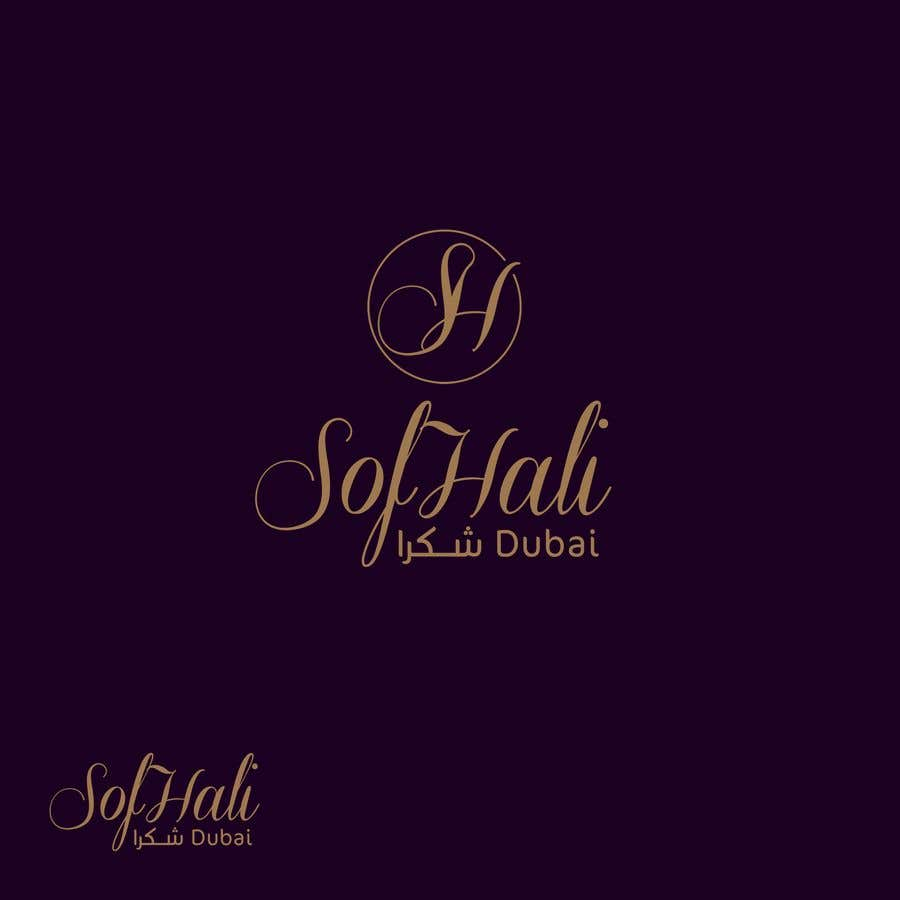 Entry #91 by MohammedHaassan for brand is SofHali please use the S H as  capital letter. In the second line unter the SofHali i want shukran shukran  is the meaning of thank