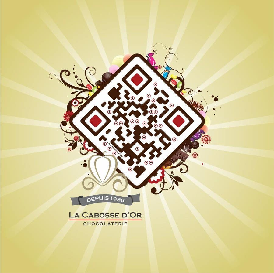 Proposition n°32 du concours QR Code Design for our Chocolate Factory