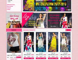 #42 untuk Website Design for Dresses Fashion Site oleh kosmografic
