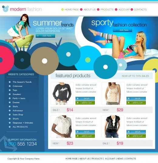 #35 for Website Design for Dresses Fashion Site by Acme1Asif