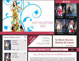 littlepixelWS tarafından Website Design for Dresses Fashion Site için no 41