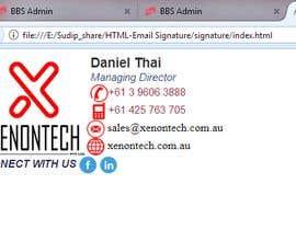 kalidas365 tarafından HTML Email Signature için no 6