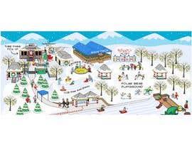 #4 para Experienced Illustrator – Winter Festival 'Magical' Site Map por WeR3RAFI