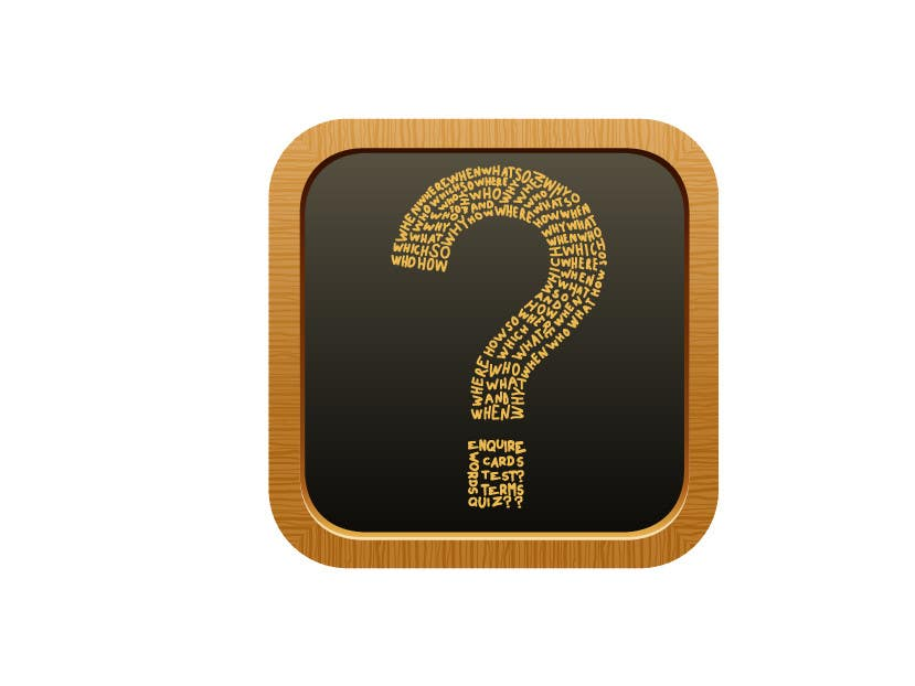 Inscrição nº                                         16                                      do Concurso para                                         icon for iOS app for iPhone and iPad about words and questions