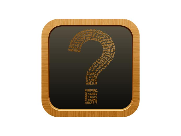 Contest Entry #10 for icon for iOS app for iPhone and iPad about words and questions