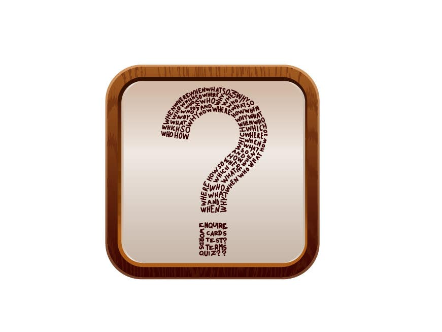 Contest Entry #19 for icon for iOS app for iPhone and iPad about words and questions