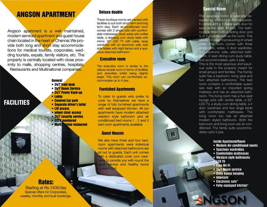 apartment brochure templates - apartment brochure sample brochures apartment tri fold