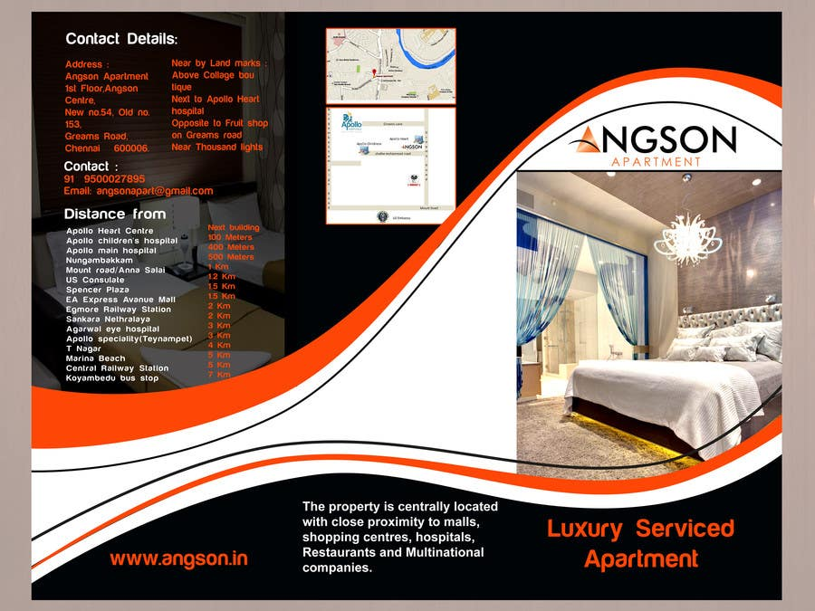 apartment brochure design. #7 For Design A Brochure Luxury Serviced Apartment By Farhanali858