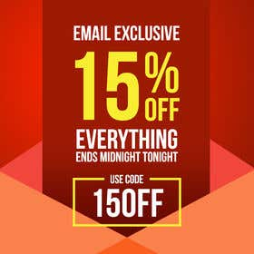 Image of                             Design an email banner for a 15%...