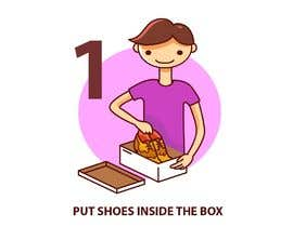 #8 for Illustration for website and newsletter on how to return shoes by fb57e109df3f33a