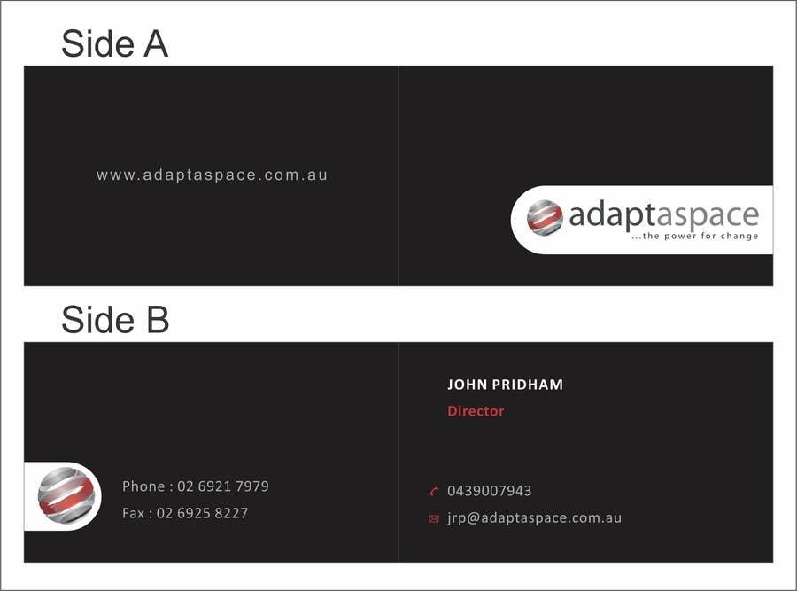 Konkurrenceindlæg #                                        4                                      for                                         Business Card for adaptaspace