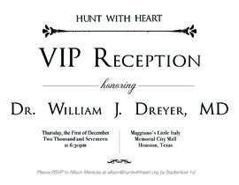 Nro 15 kilpailuun VIP reception Invitation käyttäjältä kipid