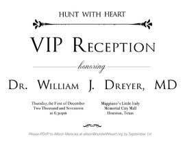 Nro 9 kilpailuun VIP reception Invitation käyttäjältä hamzadesigns
