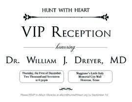 Nro 22 kilpailuun VIP reception Invitation käyttäjältä Moulogodesigner