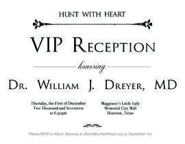 Nro 16 kilpailuun VIP reception Invitation käyttäjältä akmalhakimyusof