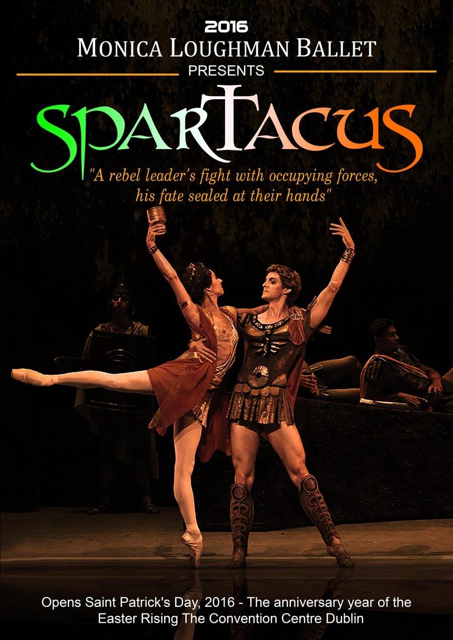 Kilpailutyö #45 kilpailussa Graphic Design for ballet company for a ballet called Spartacus