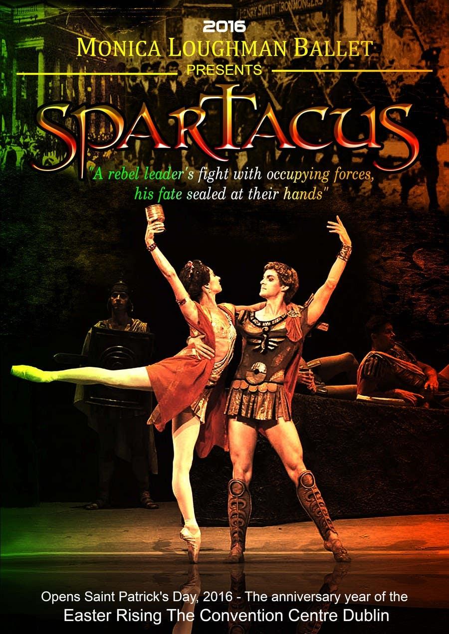 Kilpailutyö #59 kilpailussa Graphic Design for ballet company for a ballet called Spartacus