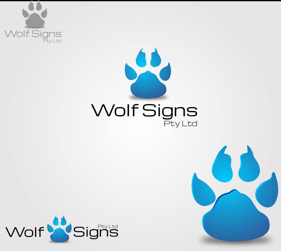 Bài tham dự cuộc thi #                                        108                                      cho                                         Logo Design for Wolf Signs