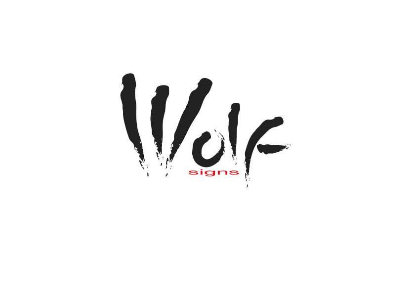 Bài tham dự cuộc thi #                                        93                                      cho                                         Logo Design for Wolf Signs