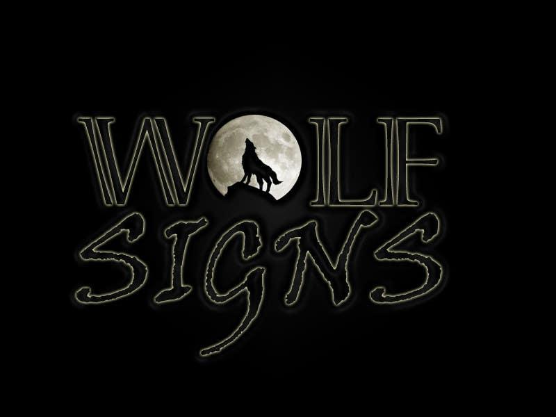 Bài tham dự cuộc thi #                                        71                                      cho                                         Logo Design for Wolf Signs