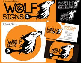 #255 para Logo Design for Wolf Signs por alizap