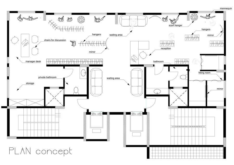 Contest Entry #7 For To Design 2d Interior Space U0026 Furniture Layout By  Autocad For