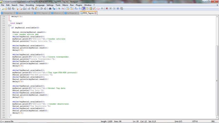 Entry #7 by mugambindwiga for Arduino - Small Code Fix   Freelancer