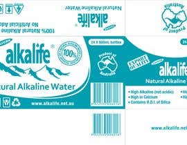 #13 para Package Design for alkalife Natural Alkaline Water por moncapili