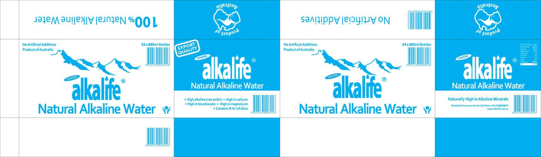 Penyertaan Peraduan #8 untuk Package Design for alkalife Natural Alkaline Water