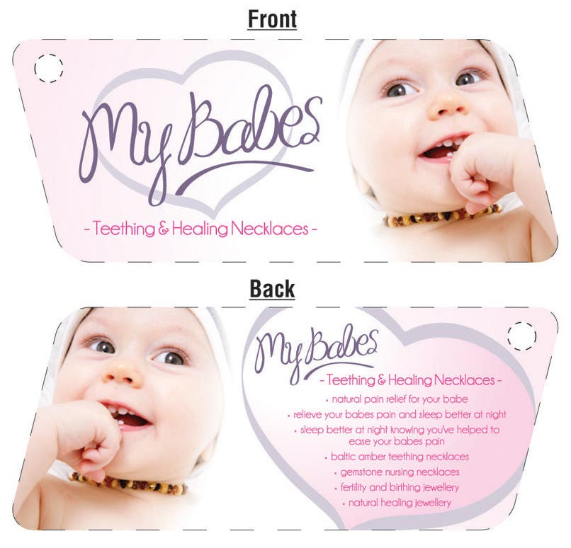 Contest Entry #47 for Print & Packaging Design for My Babes Teething & Healing Necklaces