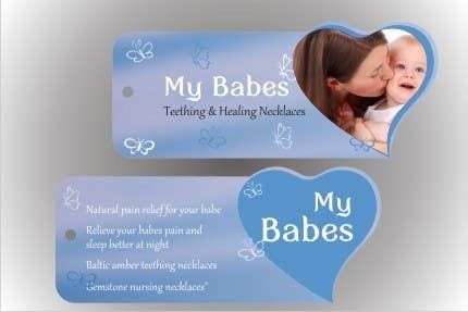 Intrare concurs #7 pentru Print & Packaging Design for My Babes Teething & Healing Necklaces