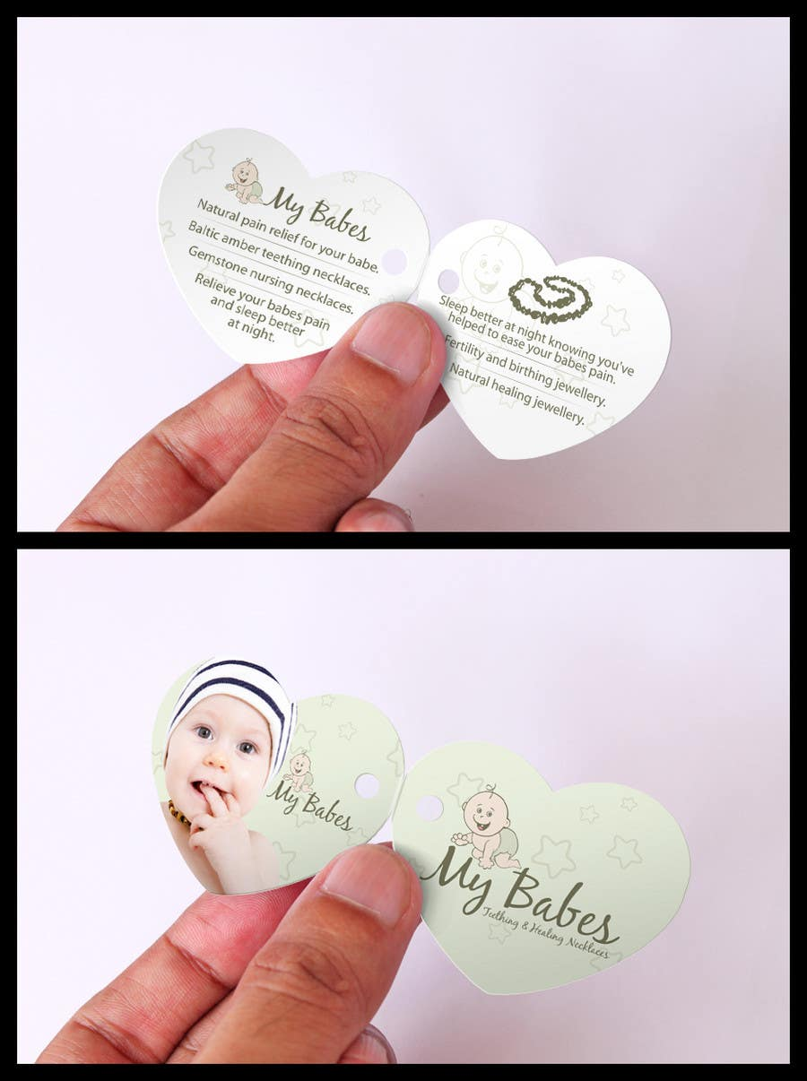 Intrare concurs #77 pentru Print & Packaging Design for My Babes Teething & Healing Necklaces