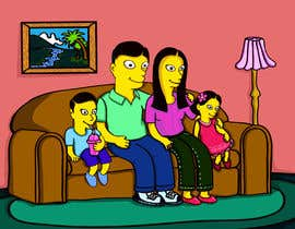 #4 for Simpsons Family Drawing - Family of 4 af kcjneththie