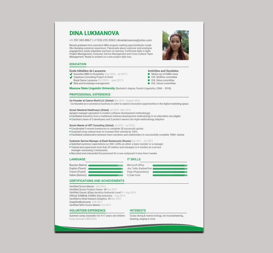entry 65 by mamun313 for print design for my cv and business card