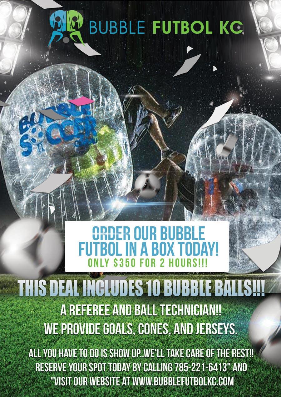 Bài tham dự cuộc thi #                                        8                                      cho                                         Design a Flyer for Bubble Futbol KC
