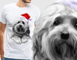 #17 for Christmas Tibetan Terrier portrait T-Shirt by Ashwings