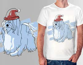 #32 for Christmas Tibetan Terrier portrait T-Shirt by kunjanpradeep