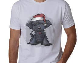 #21 for Christmas Tibetan Terrier portrait T-Shirt by sahac5555