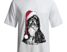 #34 for Christmas Tibetan Terrier portrait T-Shirt by Neomerger