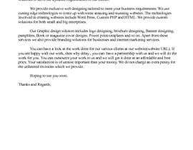 nº 3 pour Need 2 Email Template Written par saritha1979