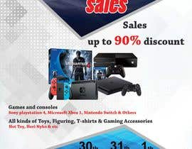 MohammodRakib tarafından Design a Flyer for Video Games Warehouse Sales. -- 2 için no 57