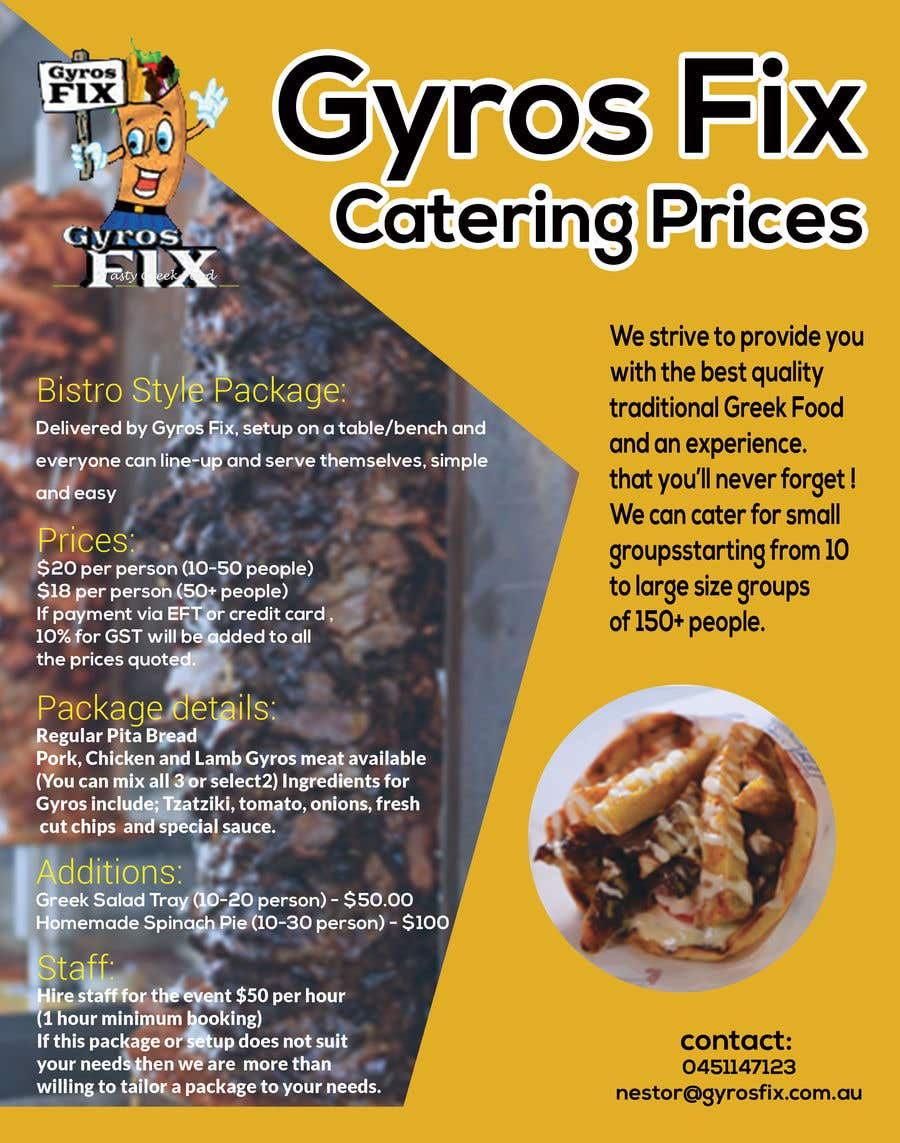entry 30 by mohaminsd for catering price flyer freelancer