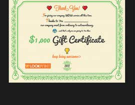 #33 for $1,000 Gift Certificate Design af Dokins
