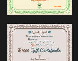 #34 for $1,000 Gift Certificate Design af Dokins