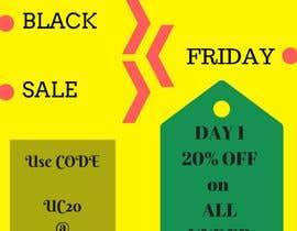 Nro 7 kilpailuun Mailchimp campaign template for black friday week. käyttäjältä futuristic1998