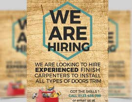 #11 per I have a Moulding business and I'm looking to hire experienced finish carpenters to install all types of doors trim. Please provide me with a advertising poster both in Spanish and English.  I am looking for a poster to advertise the job openings thanks da Sharmilauthoi